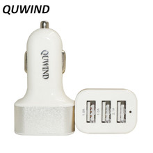 QUWIND 3A 3 USB Ports Universal Charging Car Power Adapter Charger 12-24V For iPhone 5 6 7 HuaWei Samsung Android(China)