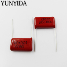 Free Shipping 10pcs, CBB 105J  400V  1UF  P20mm  Metallized Film Capacitor