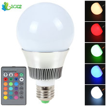 E27 120 Degree 10W RGB LED Bulb Lamp 16 Colors Energy Saving SMD 5730 LED Light Bulb Home Decoration Lighting + Remote Control