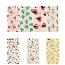 Mobile Phone Case For iPhone 5 6 S SE 5S 6S Plus 6Plus 6sPlus Cover Lips Banana Flamingo Unicorn Skin Ultrathin Silicone Casing