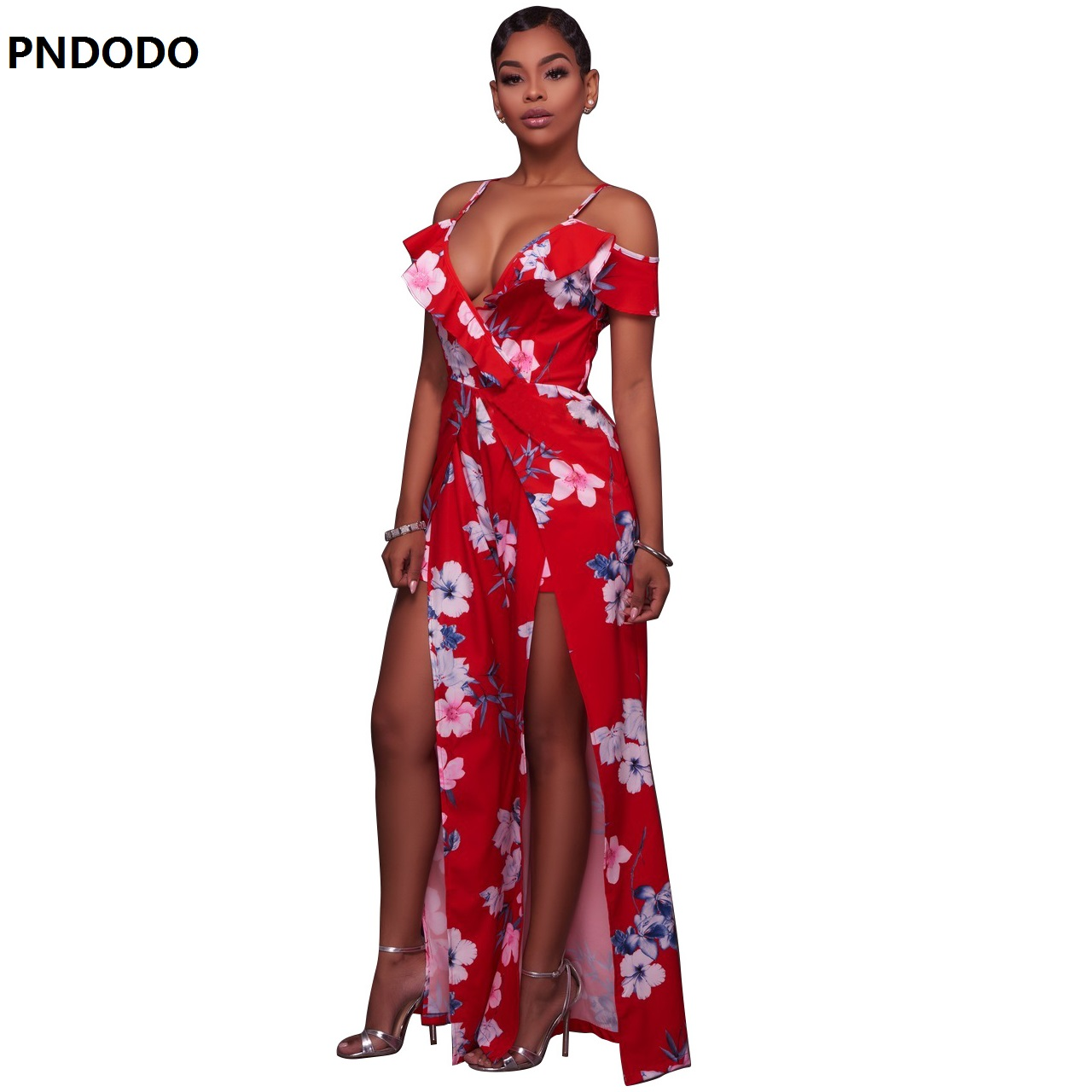 2017 Summer Beach Women Rompers And Jumpsuits Flower Print Short Sleeve Off The Shoulder High Low Romper Chiffon Jumpsuit bodies