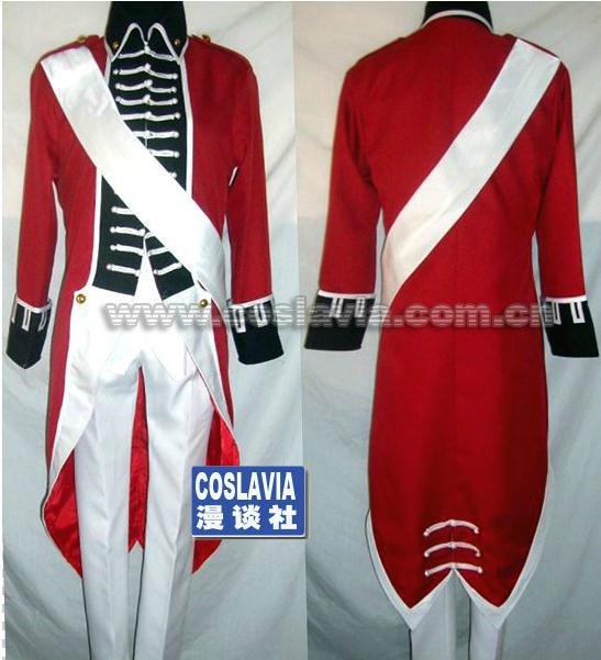 Axis Powers cosplay costume British War of independence Red military uniform costume