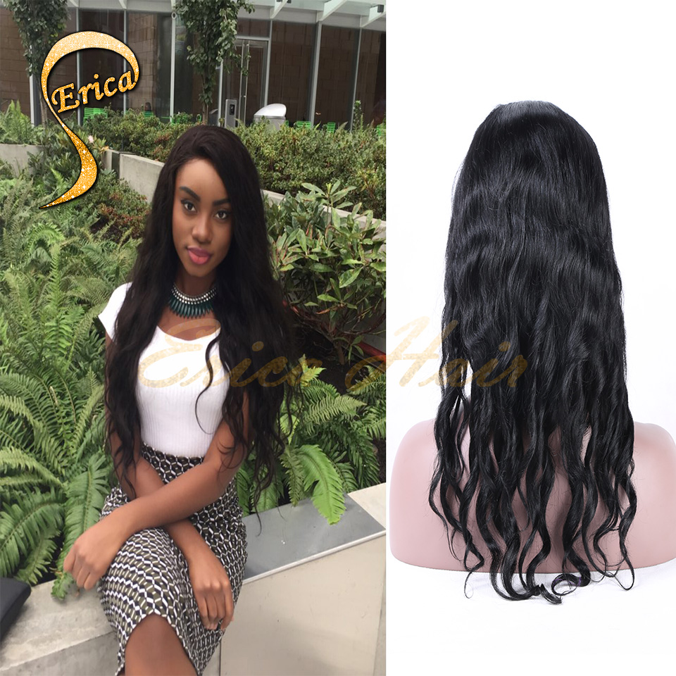 Hot Wavy Glueless Full Lace Wigs Brazilian Lace Front Wigs With Baby Hair Wavy Full Lace Human Hair Wigs For Black Women<br><br>Aliexpress