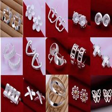 A34 // wholesale fashion 925 jewelry silver plated classic Earring , Factory Price New Big promotion popular hot sale Earring(China)
