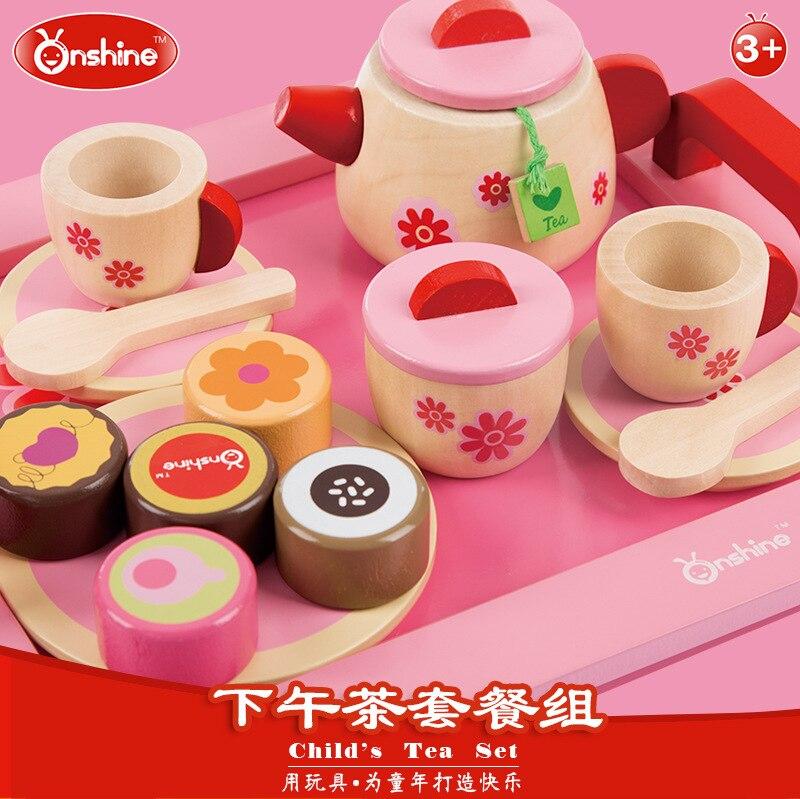 Onshine 19pcs Pink Simulation Kitchen Food Cake Tea set Play Pretend Toy Girls Baby Child kid kitchen toys Gift<br><br>Aliexpress