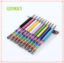 1PCS GENKKY kawaii Beautiful Lady Rainbow Crystal Ballpoint pen Diamond Ball Pen,Unique design layer crystal pen 11 Colors