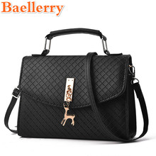 Baellerry Women Fashion Handbags Lady Deer Toy Plaid Pattern Solid Women's Briefcase Totes Shoulder Bag for Women Evening Bags(China)
