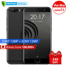 Ulefone Gemini Pro Dual Rear Cameras Mobile Phone 5.5 inch FHD MTK6797 Deca Core Android 7.1 4GB+64GB 13MP Fingerprint ID 4G LTE