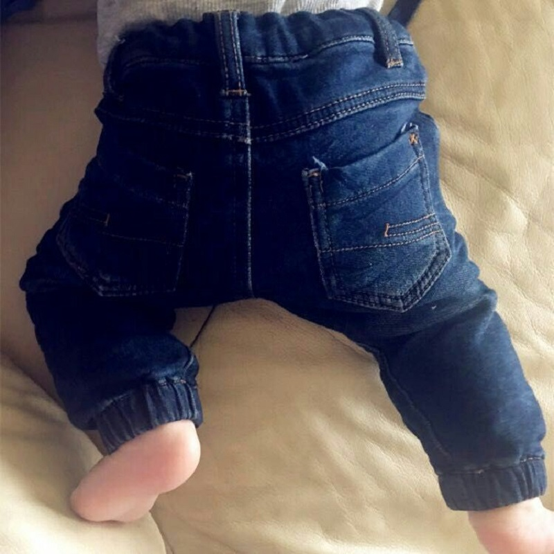 Infant Boy&Girl Blue Denim Pants Toddler Baby Soft Harem Jogger Newborn Bebe Warm Leggings  Kids Trousers Crawling Baby Clothes
