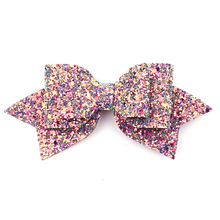Buy NEW 5'' Boutique Bowknot Princess Hairgrips Glitter Hair Bows Clip Dance Party Bow Hair Clip Girls Hairpin Hair Accessories for $1.26 in AliExpress store