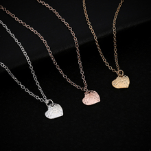 Charm Lovely Heart Pendant Necklace Fashion Silver Gold Color Pretty Lady Lover Necklace For Women Jewelry Accessories(China)