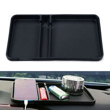 BBQ@FUKA Car Front Dashboard Anti Non Slip Pad Sticky Mat Gadget Mobile Phone GPS Holder Container Blk Fit for universal car