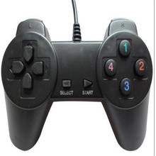 2017 New Popular Black Wired USB Game Pad Joystick Joypad Controller For PC Computer Game Playing Accessories