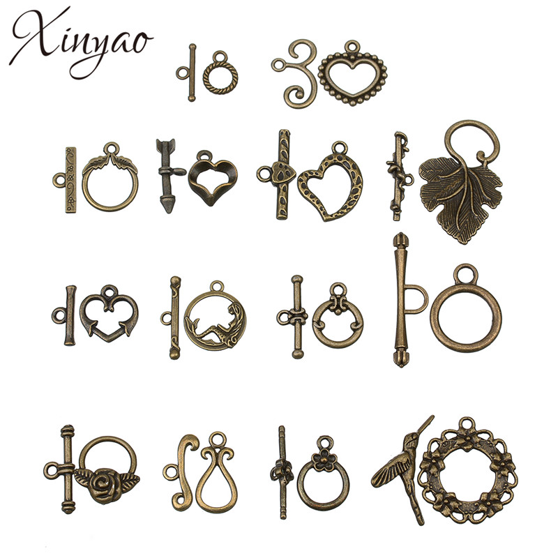 XINYAO 20sets Antique Bronze Color Toggle Clasps Hook Fit Bracelet Necklace Findings Alloy Connectors Jewelry Making F754