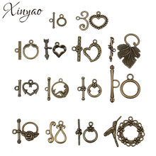 XINYAO 20sets Antique Bronze Color Toggle Clasps Hook Fit Bracelet Necklace Findings Alloy Connectors For Jewelry Making F754(China)