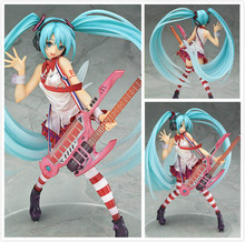 23CM Vocaloid Hatsune Miku With Electric Guitar Greatest Idol Ver. 1/8 Scale Painted PVC Action Figure Collectible Model Toy