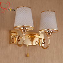 Buy colored glass wall sconces and get free shipping on aliexpress flybsw modern gold color led wall lamp 1 2 heads glass wall sconces lighting teraionfo