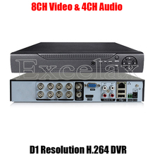 8CH CIF D1 Resolution H.264 Standalone DVR 8-Channel Digital Video Recorder HDMI BNC RCA Port P2P Cloud for Analog CCTV Camera(China)