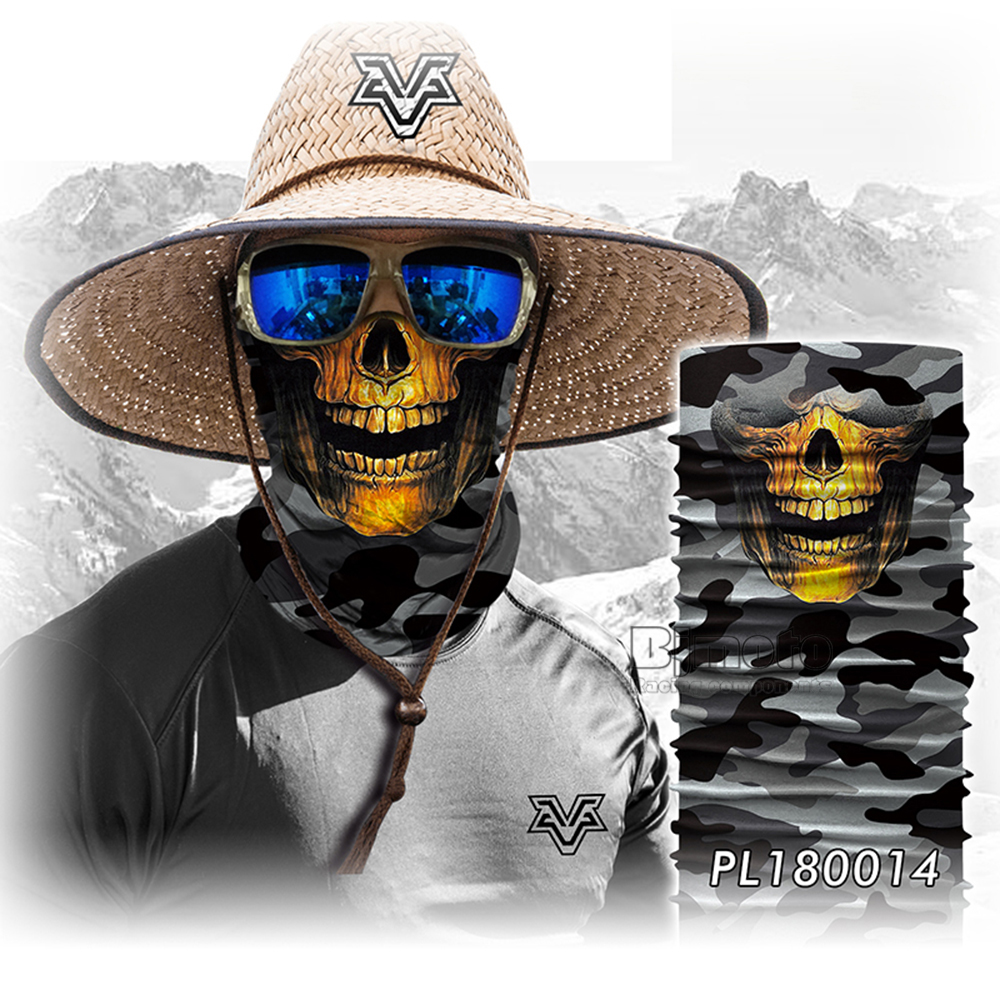 Winter 3D Skull Bandana Face Mask Scarf Bandanas Cycling Bandana Human Face Outdoors Scarves Seamless Skull Balaclava (6)