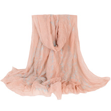New Winter Light Pink Tassel Flying Bird Scarf Women Design By French Snood For Lady Size180*100cm No.02016