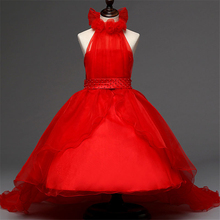 4-12Y teenage girls clothes girl party teenagers sweater dress wedding princess pageant dresses for little girls teens XD16-B(China)
