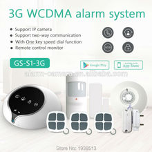 Golden Security 3G WIFI/GPRS/SMS+GSM Home Alarm System Wireless Security  3g Alarm Apps Control with PIR Motion Sensor