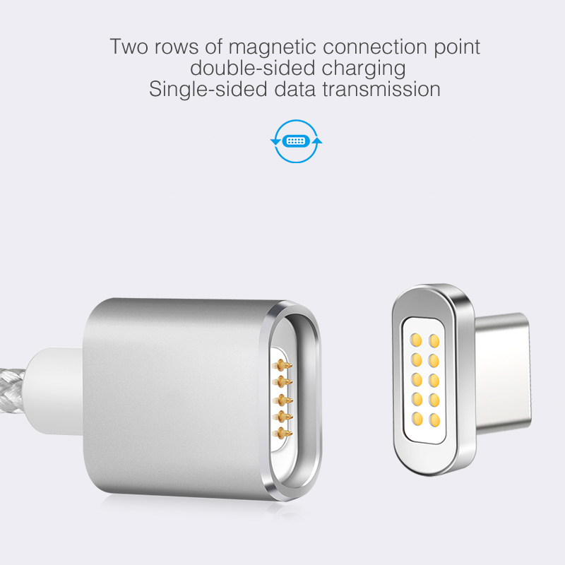 Elough E04 USB C Type C Magnetic Charger Cable For Xiaomi Mi5 Mi4c Huawei P9 Honor 8 Mobile Phone Fast Charge Type-c Magnet Wire
