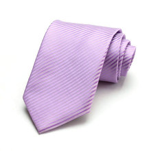 Free Shipping Cheap South korean silk commercial formal tie marriage tie 8cm tie purple stripe
