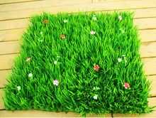 30CM*30CM New 2014 artificial long grass with flowers plastic plants grass mat grass lawn home decoration