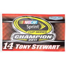 TONY STEWART #14 SPRINT SERIES 3-TIME CHAMPION 02-05-11 NASCAR Indoor Outdoor High Quality Flag 3X5 Custom flag