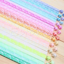 Glow in Dark Lucky Star Origami Folding Plastic Strip Paper I LOVE YOU Design