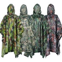 Military Camo Poncho Ligthweight Multifunctional Outdoor Sport Raincoat Waterproof Raincover For Cyclin Climbing Camping Hiking