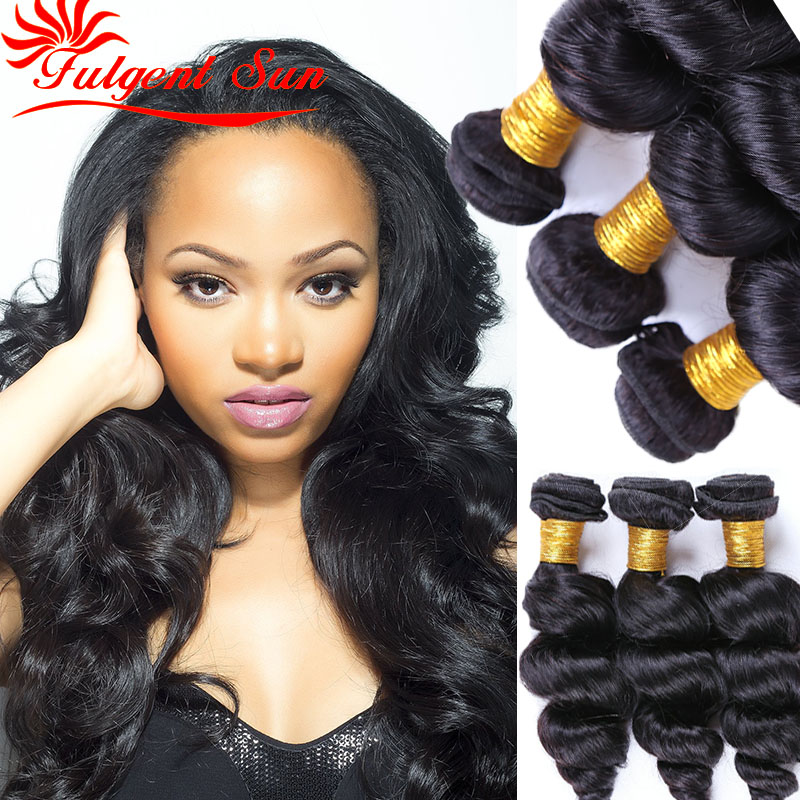 unprocessed virgin indian hair loose wave indian human hair bundles 100 human hair sew in extensions 3 bundles free shipping<br><br>Aliexpress