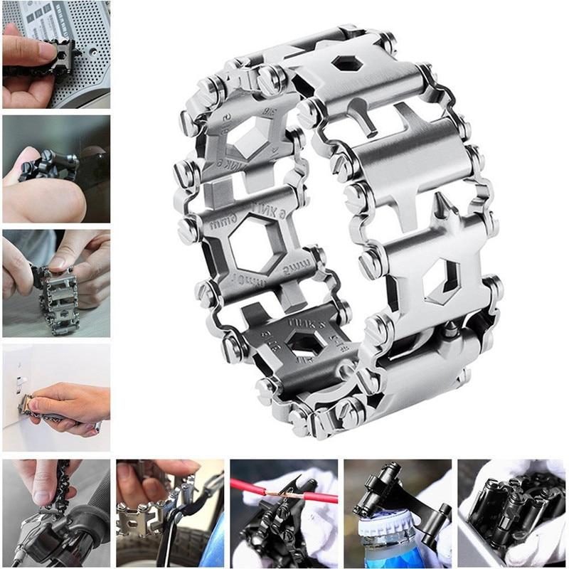 29 In 1 Multi-Function Tool Wristband Bracelet Outdoor Emergency kit Multi Tool