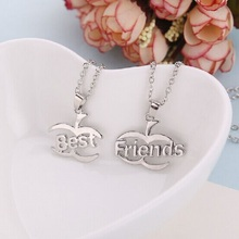 Hot New Companion Necklace Section 2 and Apple Shape Pendants Necklaces Best Friends To Share Gift
