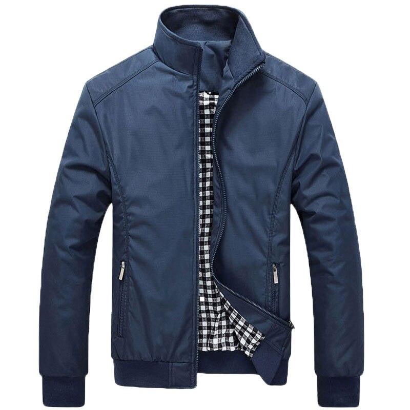 2017 new style Jacket Coat Men Wear Autumn Jackets Clothing Dress High quality Spring Jacket men mandarin collar cotton 45