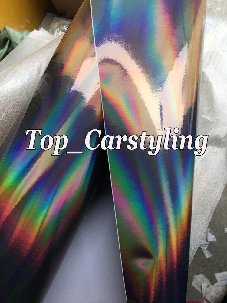 holographic chrome hologram black car wrap foil apa cast vinyl rainbow chameleon (2)
