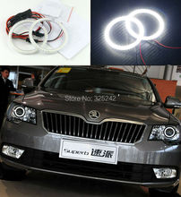 For skoda Superb 2008 2009 2010 2011 2012 2013 2014 Excellent smd led Angel Eyes kit Ultrabright illumination led Halo Ring kit