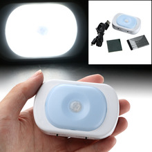Hot Selling Rechargeable PIR LED Auto Motion Sensor Night Light for Drawer Wardrobe(China)