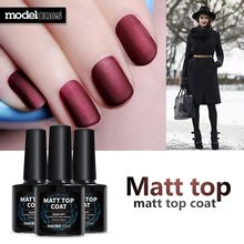 Modelones 10ml Matt Matte Top Coat Nail Gel Polish Nail Art Tips Finish Top Gel Long Lasting Gel Polish Lacquer Matt Top Gel
