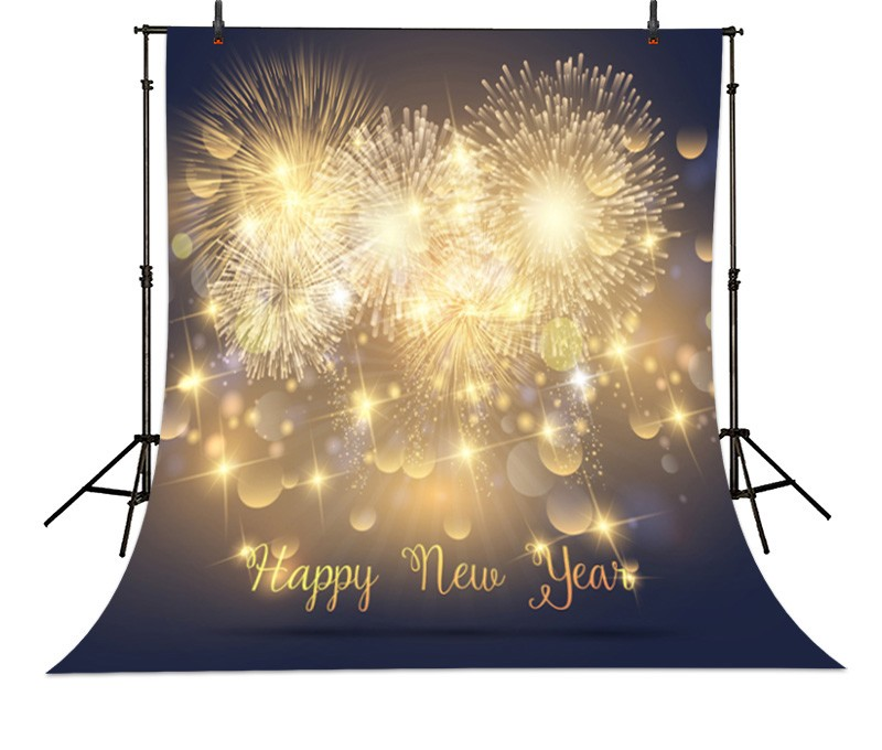 Happy New Year Light Winter Fireworks Stars photo backdrop High-grade Vinyl cloth Computer printed children Backgrounds<br><br>Aliexpress