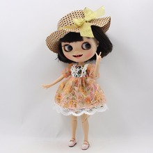 Free shipping for blyth doll icy licca lace dress hat 1/6 30cm lolita bjd(China)