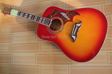 2015 New + Guitar Factory + CS Chibson DOVE acoustic guitar, DOVE electric acoustic guitar Cherryburst finish in stock