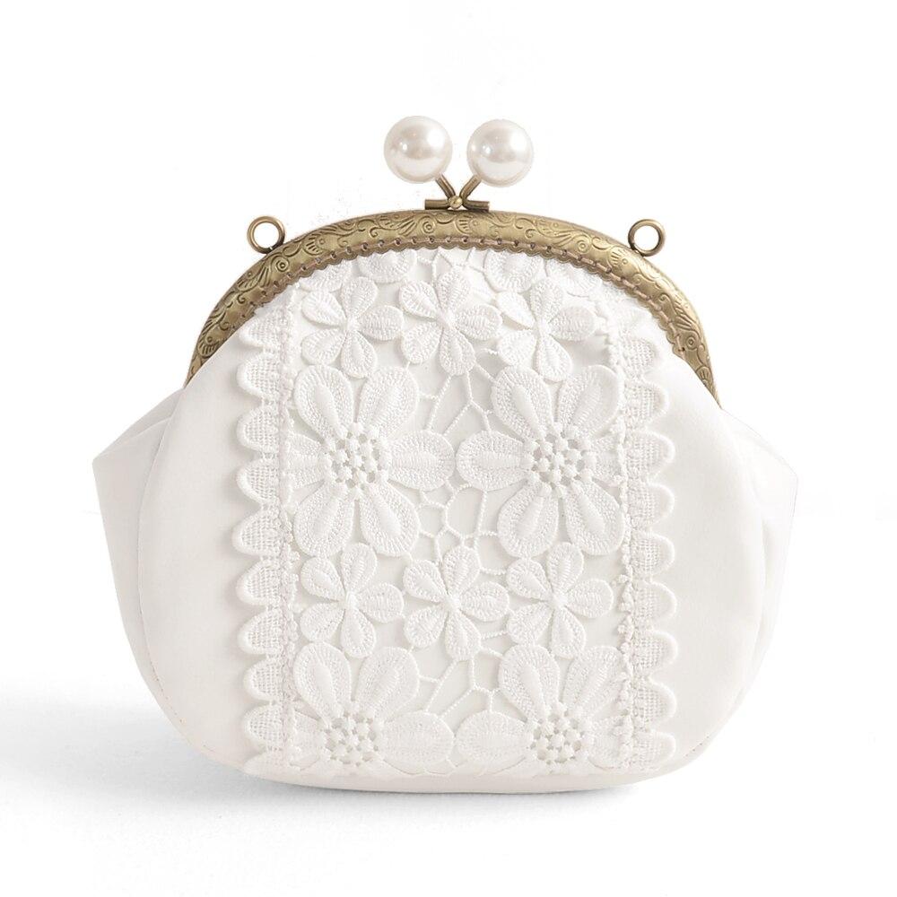 lace flower sweet lady Purse Mini Satchel Handbag chain white messager bags femmes messager sac pour femmes en<br>