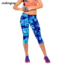 mokingtop Leggings Summer Women High Waist Elastic Fitness Women Pants Printed Stretch Leggings Calzas Mujer Leggins#3546