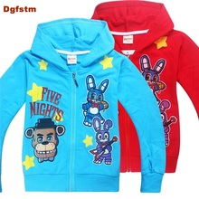 Buy DGFSTM Five Night Freddy Tshirt Spring Hooded Hoody Boys Clothes Long Sleeve Hooded Sweatshirt FNAF Middle Child Shirt Girl for $10.64 in AliExpress store
