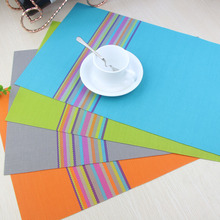 LIYIMENG 4 pieces/lot Placemat Coasters Heat-insulated Tableware PVC Placemat Kitchen Dinning Bowl Dish Waterproof Pad Table Mat(China)
