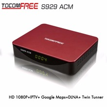 Satellite Internet Receiver Tocomfree S929ACM With WIFI 1080P Full HD DVB-S2 ACM+SKS+IKS +NEWCAM+PowerVU
