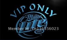 LA405- Miller Lite VIP Only Beer   LED Neon Light Sign     home decor shop crafts