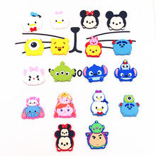 100pcs TSUM TSUM Mickey Minnie Elsa Anna cartoon Soft decoration accessories Shoe Charms DIY Gadgets Kids Gift Charms(China)